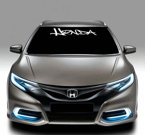 honda graffiti windshield text lettering 4quot x 40quot vinyl