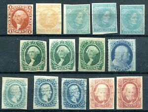 Confederate States - Selection classics, MH/mint no gum, 1 canc.