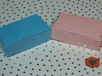 Light Pink or Blue 100x60x30mm Premium Wedding Party Cake Slice Boxes