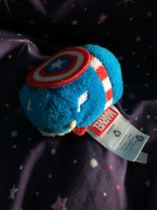 The-Disney-Store-Mini-Tsum-Tsum-Plush-Soft-Toy-Marvel-Captain-America-Red-Blue