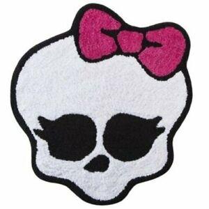 Mattel-Monster-High-White-Skull-Throw-Rug-22x24-Cotton-Pile-Skid-Resist-Bath-Mat