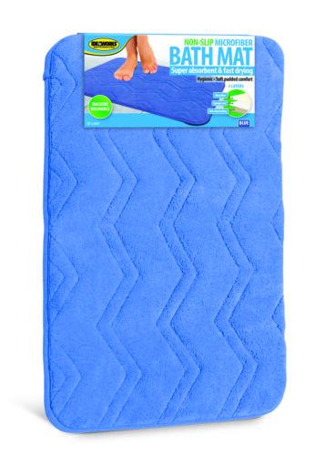 """Non-Slip Microfiber Bath Mat Super Absorbent Rug Soft Carpet 3 Colors 24 x 16/"""""""