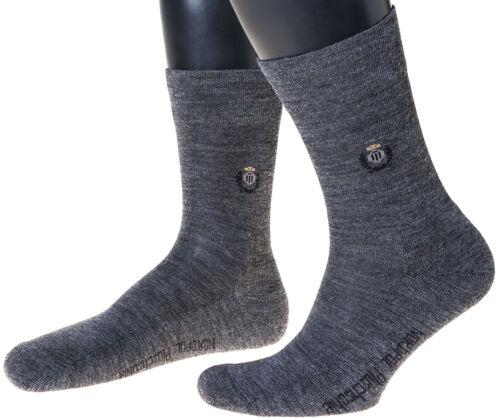 avec laine vierge Made in Germany Wollsocke avec motif en 3er pack peluche semelle