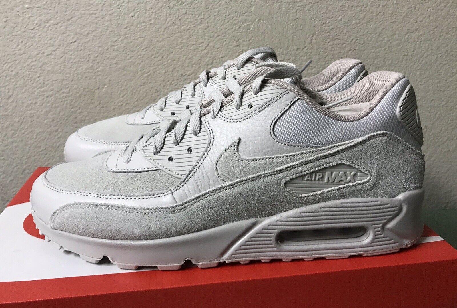 Nike Air Max 90 Premium Mens Sz 12 Light Bone String Running shoes 1 95 97 NEW
