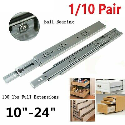 "1 Pair 10/"" Heavy Duty Metal Ball Bearing Drawer Slides"