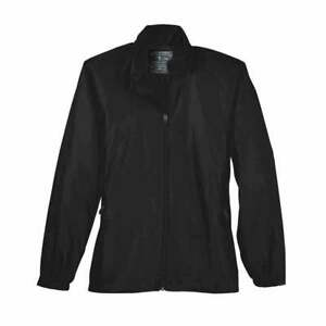 Page-amp-Tuttle-Embossed-Windshirt-Casual-Golf-Outerwear-Black-Womens