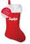 Personalizzato-Di-Natale-calza-Famiglia-Set-Babbo-Natale-Sacco-Calze-di-Natale-Glitter miniatura 3