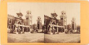 Italia Venezia Arsenal, Lions Greco Grecia Foto Stereo Albumina Ca 1870