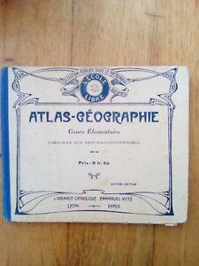 ATLAS-GEOGRAPHIE-COURS-ELEMENTAIRES-EMMANUEL-VITTE-1912