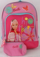 Brand Classic Barbie Design Girls 16 School Backpack With Pencil Case