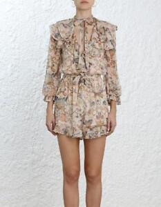 e22a9197afc Image is loading NWT-AUTH-Zimmermann-Silk-Painted-Heart-Cascade-Playsuit-