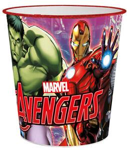 The Avengers Kinder Papierkorb Mülleimer Kunststoff Abfalleimer Eimer Superheld