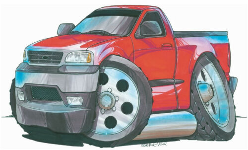 Ford Pick Up Truck Printed Koolart Cartoon T Shirt 1410 Other Colors Available