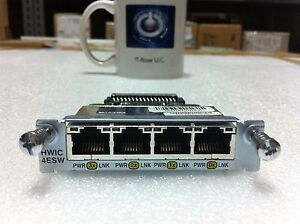 Cisco-HWIC-4ESW-Cisco-EtherSwitch-10BASE-T-100BASE-TX-Card-4-port