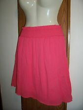 XL skirt SUNSET CORAL womens short stretch waist slip on 16 18 crinkle gausey