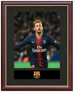 Neymar-Jr-Mounted-Framed-amp-Glazed-Memorabilia-Gift-Football-Soccer