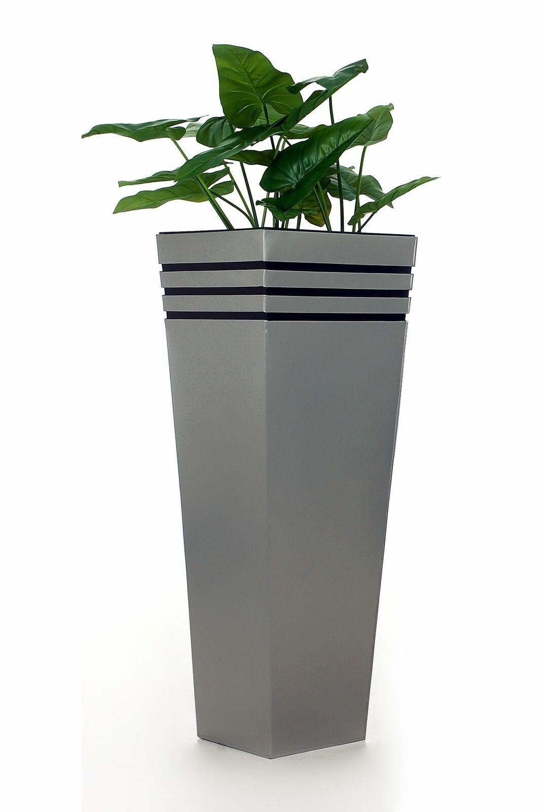 Pflanzkübel Blaumenkübel Zink NEW CLASSIC 105 cm Silber + Bewässerungsystem