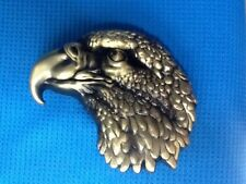 3D GOLDEN BOLD EAGLE HAWK HARRIER FALCON BIRD OF PREY RAPTOR KITE BELT BUCKLE