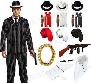 La imagen se está cargando Adulto-Disfraz-De-Lujo-10-Piezas-Gangster-Mafia- 84d983050c7