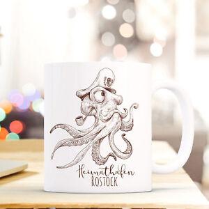 Tassen GroßZüGig Tasse Becher Käpt'n Krake Kaffeebecher Geschenk Spruch Heimathafen Rostock Ts661 Geschenk- & Werbeartikel