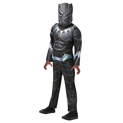 Rubie's Official Marvel Avengers Black Panther, Deluxe Child / Boys Costume