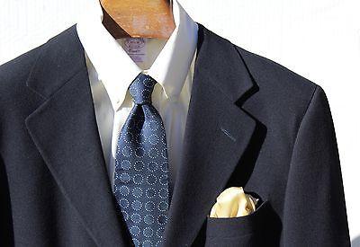 Ermenegildo Zegna Soft 40R Gentleman's 3-Button Navy Blue Sport Coat - $1,995.00