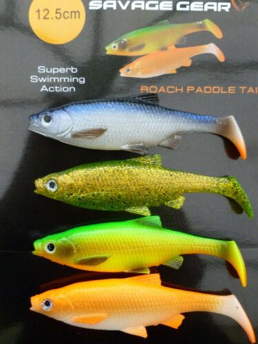 SAVAGE Gear Roach Paddle Tail Esche 7.5cm 10cm 12.5cm NUOVA 2019 PREZZO PAZZO