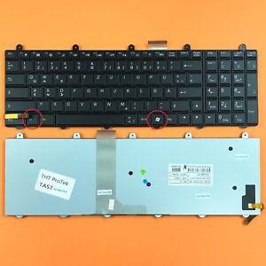 Tastatur Keyboard ohne Beleuchtung DEUTSCHE Ohne Rahmen f/ür Clevo W370ET
