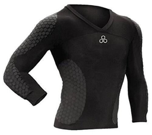 MCDAVID negro hexpad soccer goalkeeper shirt long sleeve projoezione portiere