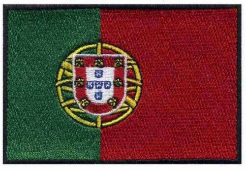 """Portugal Flag Iron On Patch 3/"""" x 2/"""" Free Shipping"""