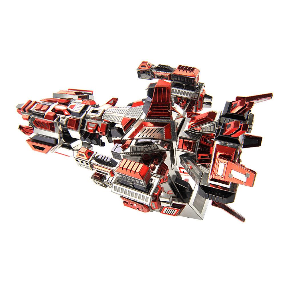 3D Metal Puzzle Kit DIY Spaceship Battleship Model Jigsaw Assemble Toy 292x