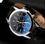 thumbnail 58 - Fashion Sport Men's Stainless Steel Case Leather Band Quartz Analog Wrist Watch