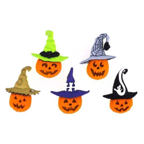 Jesse James Dress It Up Buttons Jacks in Hats Pumpkins #6688 Sewing Crafts