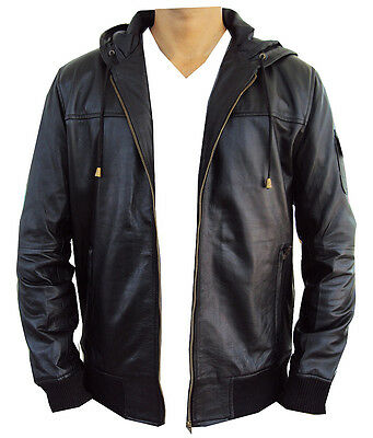 New Leather Jacket Bomber Hoodie style