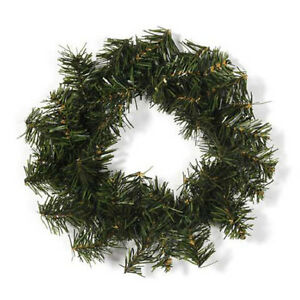 12 Inch Canadian Pine Artificial Green Christmas Wreath Un-lit | eBay