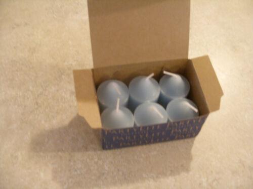 Partylite 4 Boxes BLUE AGAVE Votives NIB low ship