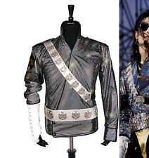 Rare Classic MJ Michael Jackson BAD Jam Laser Jacket Belt Set Performance