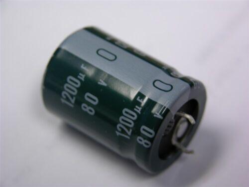 2 Nichicon LGU1K122MHLZ 1200uF 80V 105C Snap-In Electrolytic Capacitors