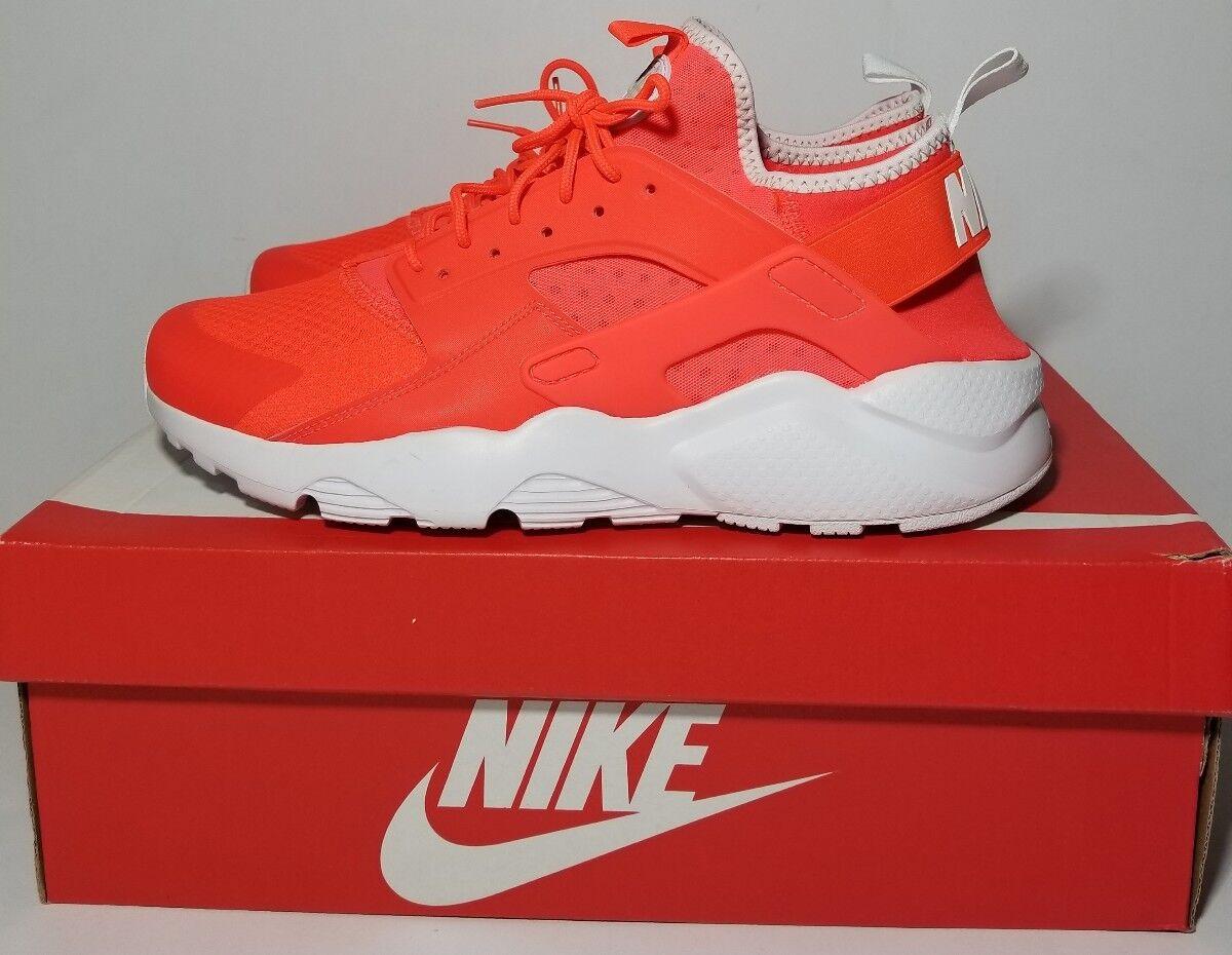 NIKE AIR HUARACHE Run Ultra Crimson/Grey-White Running Shoes 819685-602 SZ 10.5