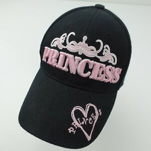 Princess Black Pink Adjustable Girls Baseball Ball Cap Hat