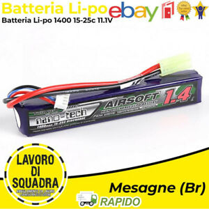 Battery Lipo Tamiya Connector 1400MAH 11.1V 3S 15~25C Turnigy Nanotech Softair