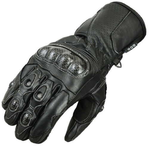 Motorcycle Motorbike Leather Gloves Knuckle Protection Summer Gloves Biker Neu