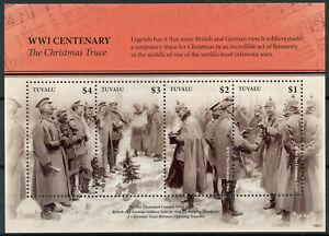 Tuvalu-2019-MNH-WWI-WW1-Christmas-Truce-World-War-I-4v-M-S-Military-Stamps