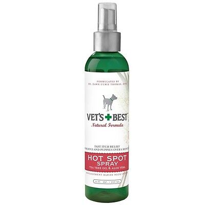 Vet's Best Hot Spot Spray for Dogs 8 oz - fast relief for itchy & irritated skin
