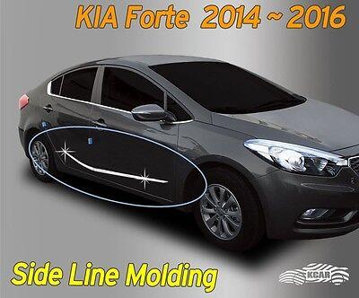 Door Side Skirt Chrome Line Molding Garnish Trim B763 For KIA 2013-2017 Forte K3