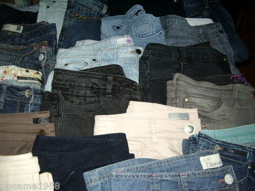 Wholesale Joblot Ladies Jeans Denim Cord Etc Mixed Brands Sizes Lengths & Styles