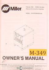 miller syncrowave 250 dx 350 lx owners manual om 363 213117ap ebay rh ebay com miller syncrowave 350 service manual Miller 350 LX Syncrowave PDF