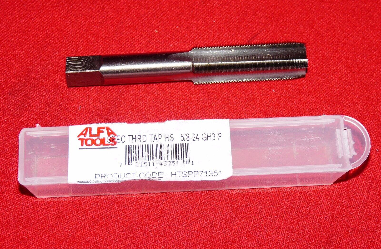 """5//8-24 Tap NEF Gunsmithing 4FL Plug HSS Special Thread RH OR GP 5//8/"""" Quality"""