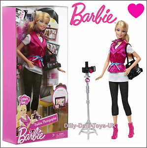 Barbie I can Be A Fashion Photographer Doll Outfit Camera ...