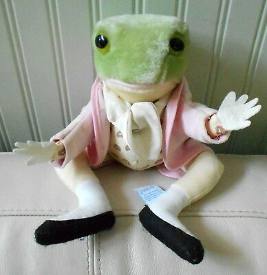 Vintage Beatrix Potter Frog Plush Stuffed EDEN Mr Jeremy Fisher Collectible 12""